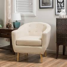 Fabric Accent Chair Fallon Light Beige Fabric Accent Chair