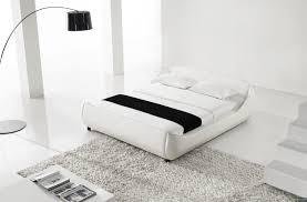 White Platform Bed Frame Yeolani Home Modern White Leather Platform Bed With Blue Led Light