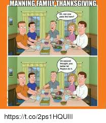 25 best memes about manning family thanksgiving manning