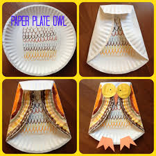 fall kids craft paper plate owl can do this as a line activity