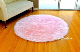 Pink Round Rug Nursery Pink Nursery Rug Baby Pink Luxury Faux Fur Throw Area Rug
