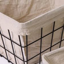 joveco rectangular minimalist multi purpose baskets with faux