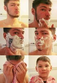 Shaving Meme - hilarious before and after shaving looks for movember