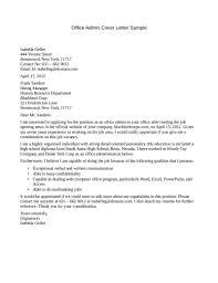 Administrative Officer Sample Resume Sample Cover Letter Administrative Officer Resume Cover Letter