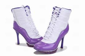 womens purple boots size 12 nike air 11 high heels purple white for
