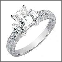 Used Wedding Rings by Pre Owned Used Radiant Engagement Rings