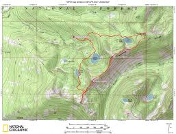 Bitterroot Mountains Map Diamond Ridge Traverse Idaho A Climbing Guide