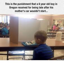 desk for 6 year old this is the punishment that a 6 year old boy in oregon received for