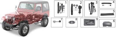 Jeep Interior Parts Jeep Cj Series Interior Body Parts U002776 U002786 Quadratec