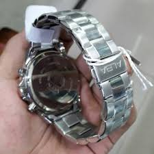 Jam Tangan Alba jam tangan alba at3911x1 pria chorono steel silver blue