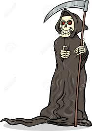 spooky halloween clipart cartoon illustration of spooky halloween death with scythe or