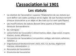 association loi 1901 bureau l association loi 1901 les statuts ppt télécharger
