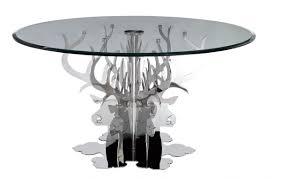 Luxury Glass Dining Table Temptation Hamlet Round Luxury Glass Dining Table Dining Room