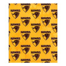 football wrapping paper hawthorn wrapping paper gold hawksnest online shop