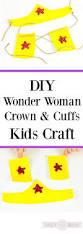 diy wonder woman crown and cuffs craft for kids