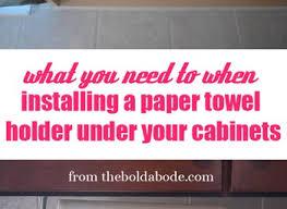 prodyne paper towel holder stainless steel under cabinet rack wall
