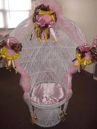 baby shower chair decorations furniture white baby shower wicker chair with decoration