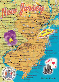 New Jersey Map New Jersey Deltiolog