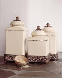 beige fleur de lis ceramic kitchen canisters set 3 by kitchen canisters jars important design part kitchen versailles