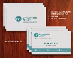 elegant double sided eco friendly business cards psd free download