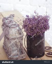 rustic home decor provence style lavender stock photo 223165186
