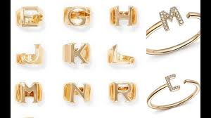 custom initial rings a to z name rings beautiful name rings design custom initial