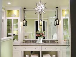bathroom vanity mirror with light bulbs around it with crystal