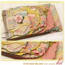 vintage scrapbook album paisleys polka dots april 2013 vintage bliss mini album