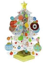 fascinating silver tree w colorful decorating pop up