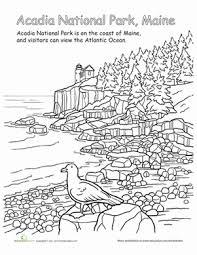 acadia national park worksheet education com