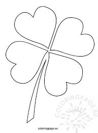 4 leaf clover template 4 leaf clover template coloring page