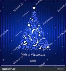 christmas card shoes christmas tree footwear stock vector
