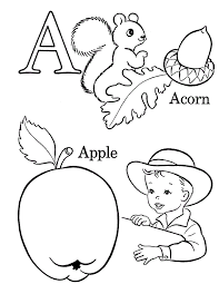 alphabet coloring pages coloring kids