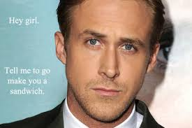 Happy Birthday Meme Ryan Gosling - ryan gosling has claimed that he s never uttered the words hey girl