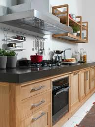 Spice Rack Countertop Hanging Pots On Kitchen Wall Under Exhaust Beside Diy Wood Wall