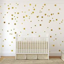 Painted Walls Amazon Com Gold Wall Decal Stars 123 Decals Easy To Peel Easy