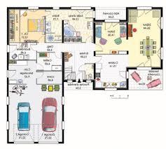 plan de maison plain pied gratuit 3 chambres beautiful plan maison moderne plain pied photos amazing house