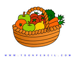 fruits u0026 vegetables clipart vegetable basket pencil and in color
