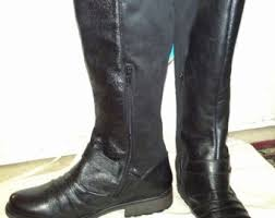 womens black knee high boots size 11 boots size 11 etsy
