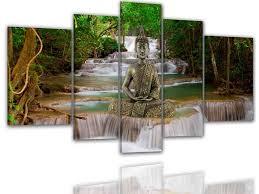 Feng Shui Bilder Esszimmer Cs Leinwand Bilder 8168 Xxl Buddha Feng Shui Asien Wasserfall
