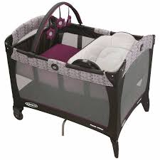 bid napper graco pack n play with bassinet and napper changer pink