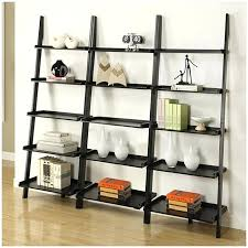espresso leaning bookcase large size of crate and barrel leaning