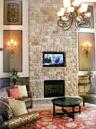 photos hgtv stone fireplace wall with inset tv loversiq