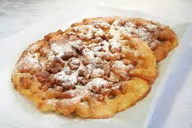 funnel cake recipe with suggested toppings