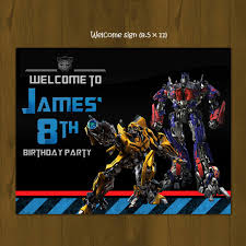 printable transformers birthday banner transformers birthday party pack diy splashbox printables online