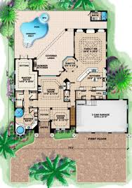 mediterranean style house plan 5 beds 4 50 baths 4138 sq ft plan