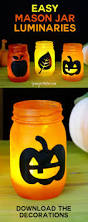 easy mason jar luminaries for autumn and halloween jennifer maker