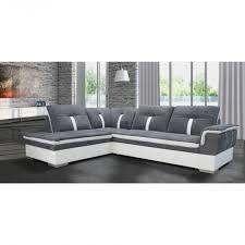 canapé d angle microfibre canapé d angle marion gris blanc angle droit achat vente destiné