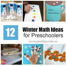12 winter math activities for preschoolers