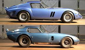 250 gt kit car side comparison of a 250 gto and a shelby daytona coupe